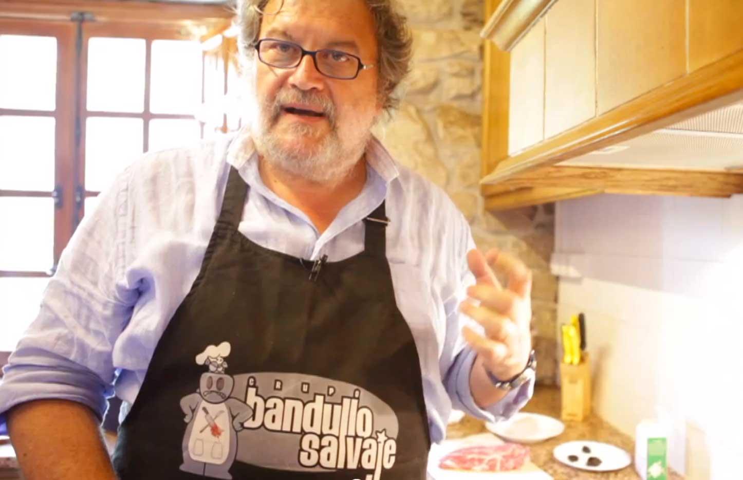 «Presa ibérica con salsa de Amandi o con mantequilla de vino tinto», con J. Luis Oliveira